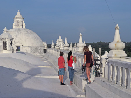The rooftop of the Cathedral de Leon, Nicaragua.