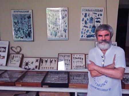 Entomologist Jean-Michel Maes at El Museo Entomológico de Leon, Nicaragua.
