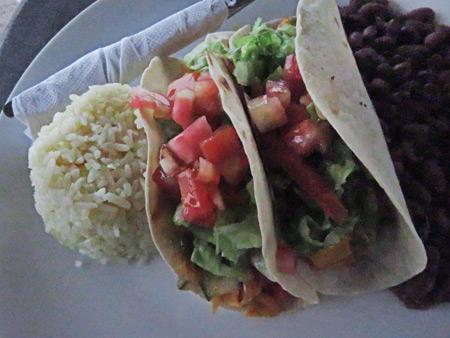Tacos for lunch in Las Penitas, Nicaragua.