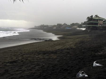 A rainy evening at Las Penitas, Nicaragua.