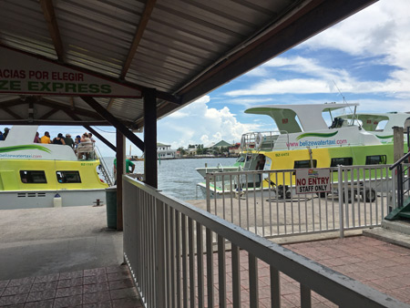 The Belize Express Water Taxi in Belize City.