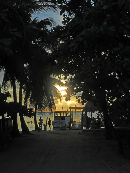 Sunset in Caye Caulker, Belize.
