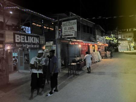 Belizean Flava on Playa Asuncion in Caye Caulker, Belize.
