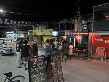 Where do you want to eat? I dunno. Where do you want to eat? Playa Asuncion in Caye Caulker, Belize.