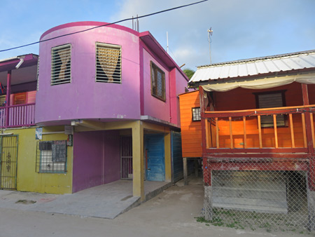 Purple daze and orange haze in Caye Caulker, Belize.
