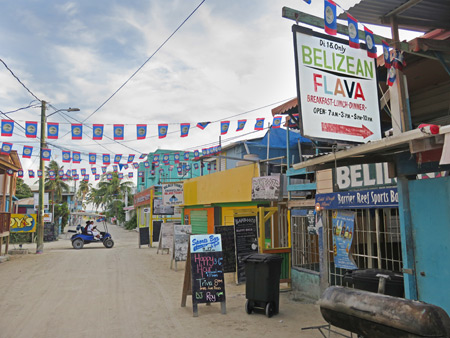 Belizean Flava on Playa Asuncion in Caye Caulker, Belize.
