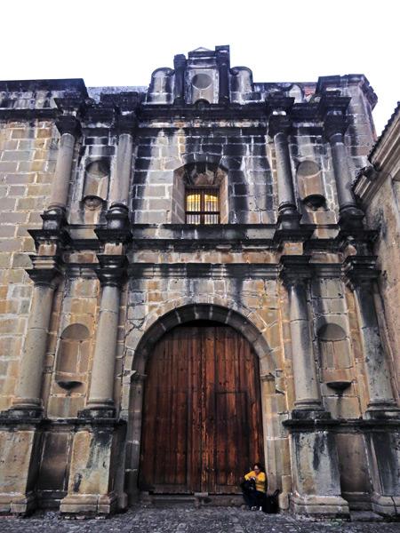 Iglesia y Convento de las Capuchinas in Antigua, Guatemala.