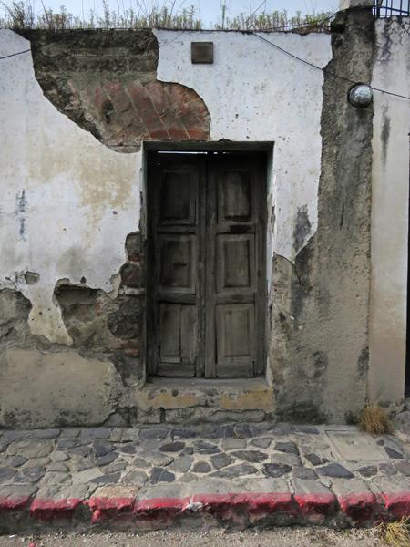 A weathered doorway in Antigua, Guatemala.