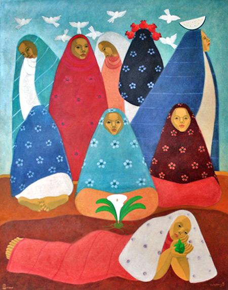 De La Serie Primaveras Perdidas by Carlos Chavez at La Antigua Galerie de Arte in Antigua, Guatemala.