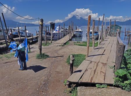 The docks at Panajachel, Lago de Atitlan, Guatemala.