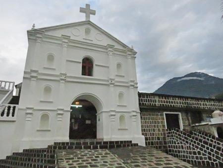 Iglesia Catolica in San Pedro, Lago de Atitlan, Guatemala.