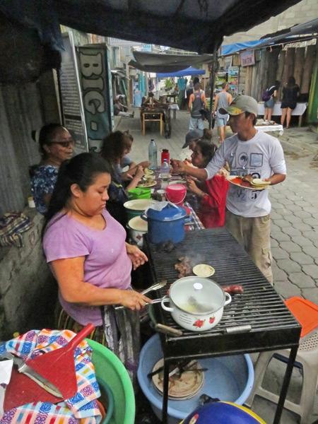 Street food in San Pedro, Lago de Atitlan, Guatemala.