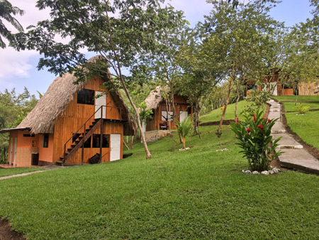 The Hostal Oasis in Lanquin, Guatemala.