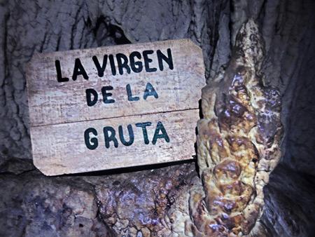 The Virgin of the Grotto in Cuevas de Actún Kan near Flores, Guatemala.