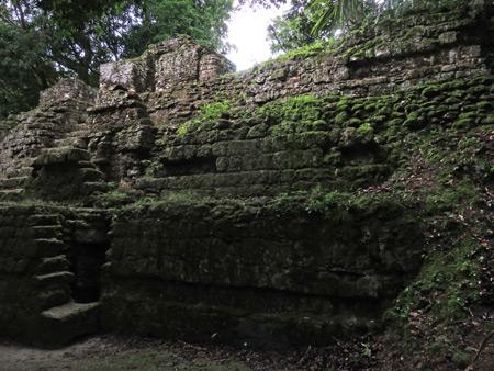 Some moss-covered ruins at Tikal, Guatemala.