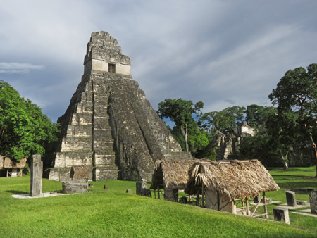 Temple I rules the world of Tikal, Guatemala.