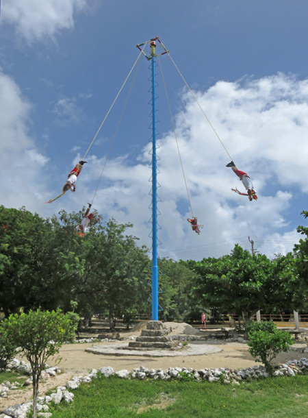 The Danza de los Voladores in Tulum, Mexico.