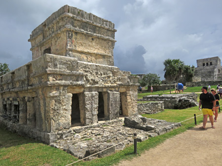 The Temple of the Frescoes at the Tulum Ruins, Mexico.