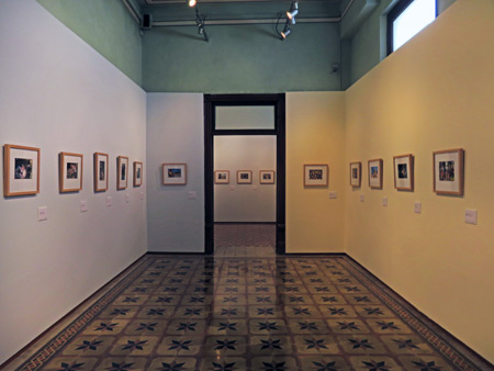 A photo gallery in the Museo de Arte Popular de Yucatan in Merida, Mexico.