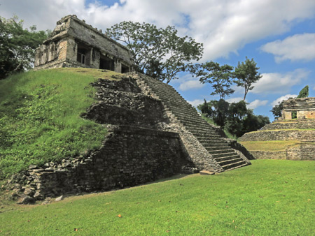 The Templo del Condi at the Palenque Ruins, Mexico.