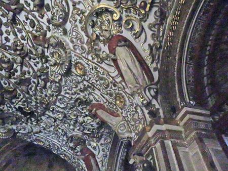 The ornate ceiling inside the Templo de Santo Domingo de Guzman in Oaxaca City, Mexico.