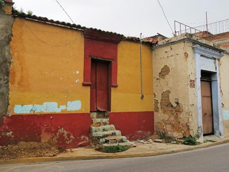 Distressed walls in Oaxaca City, Mexico.