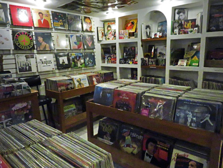 The Konexion Musical record shop in Oaxaca City, Mexico.