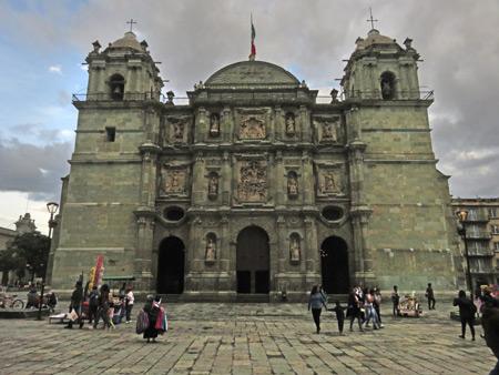 The Catedral de Nuestra Señora De La Asunción in Oaxaca City, Mexico.