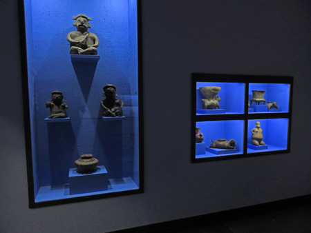 A Mayan blue period at the Museo Rufino Tamayo in Oaxaca City, Mexico.