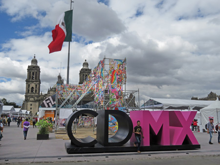The Zocalo in CD MX, which means Ciudad Mexico, which means Mexico City.
