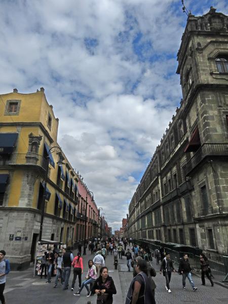 Another long block in Centro Historico, Mexico City, Mexico.