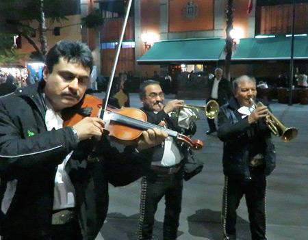A Mariachi band performs at Plaza Garibaldi in Mexico City, Mexico.