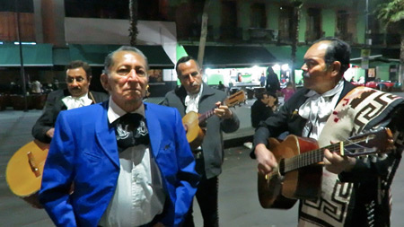 A Mariachi band performs at Garibaldi Plaza in Mexico City, Mexico.