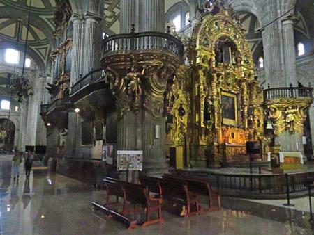 The interior of the Catedral Metropolitana de Mexico in Mexico City, Mexico.