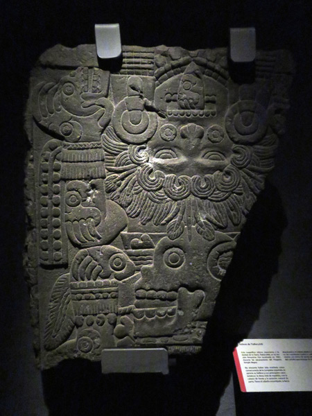 An exquisite Aztec temple carving at the Museo Templo Mayor in Mexico City, Mexico.