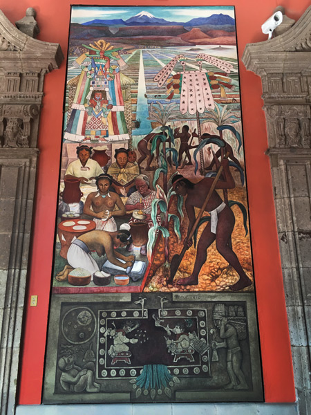 Maize (Huasteca Culture (1950) by Diego Rivera at the Palacio Nacional in Mexico City, Mexico.