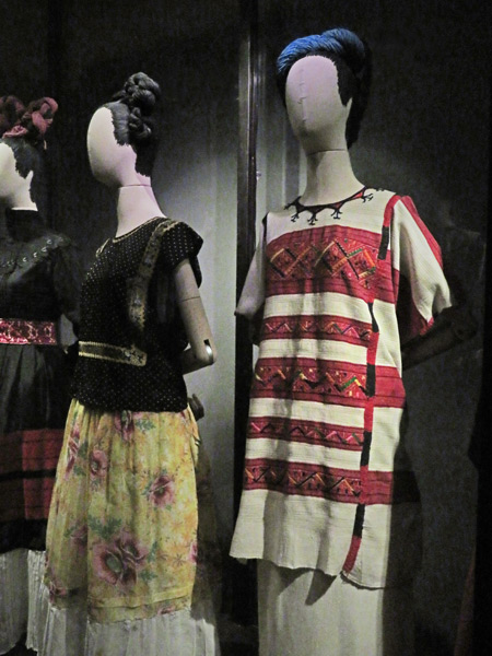 Frida Kahlo's clothes at the Frida Kahlo Museum in Mexico City, Mexico.
