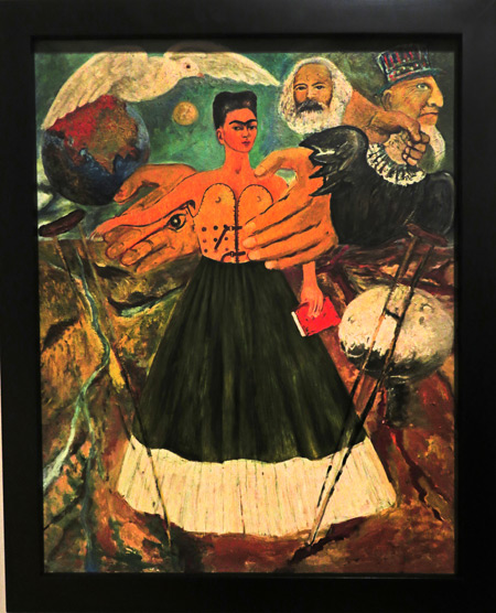 Marxism Will Bring Health to the Sick (1954) by Frida Kahlo at the Frida Kahlo Museum in Mexico City, Mexico.