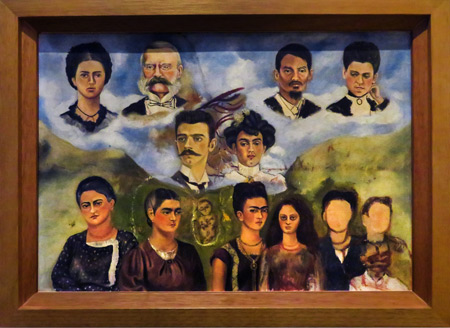 My Family (unfinished, 1949) by Frida Kahlo at the Frida Kahlo Museum in Mexico City, Mexico.