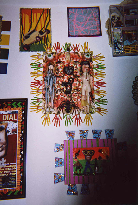 The art of Randy Biscuit Turner at his home in Austin Texas, circa 2004. Photo by Rich Jacobs.