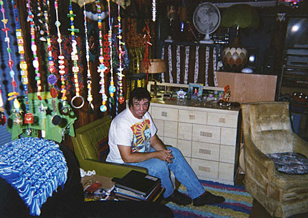 Randy Biscuit Turner at home in Austin Texas, circa 2004. Photo by Rich Jacobs.