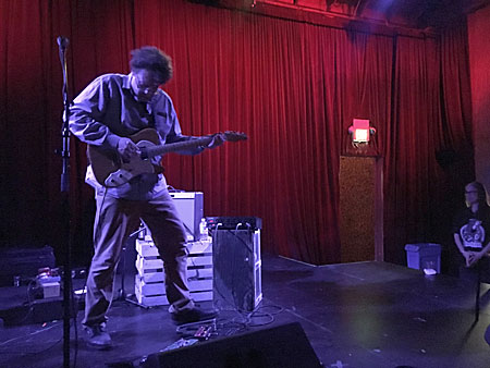 Sir Robert Millis performs at the Bootleg Theater in Los Angeles, California on May 4, 2017.