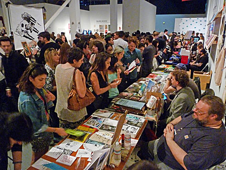 Rich Jacobs at the Printed Matter LA Art Book Fair 2015.