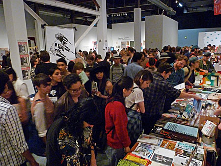 Browsers at the Printed Matter LA Art Book Fair 2015.