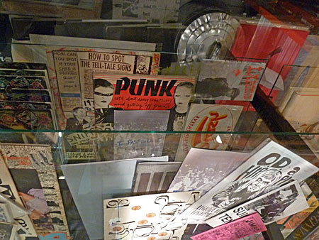 Punk zines at the Printed Matter LA Art Book Fair 2015.