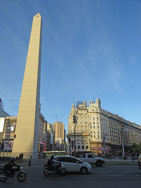 The Plaza de la República in Buenos Aires, Argentina.