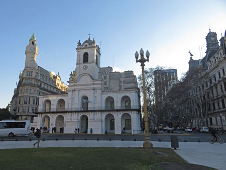 Some buildings around the Plaza de Mayo in Buenos Aires, Argentina.