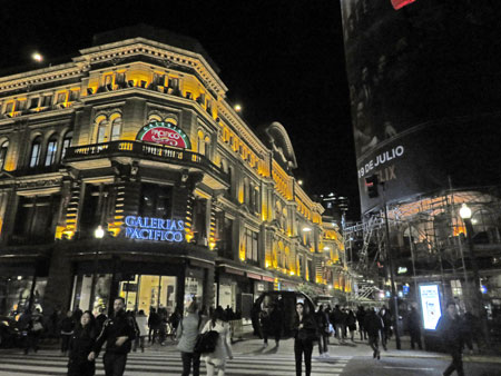 Florida, a pedestrian-only shopping street in Buenos Aires, Argentina.