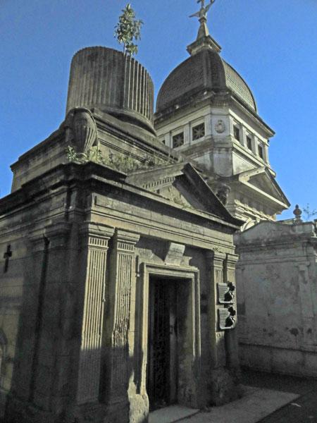 Two crypts at the Cementerio de la Recoleta in Buenos Aires, Argentina.