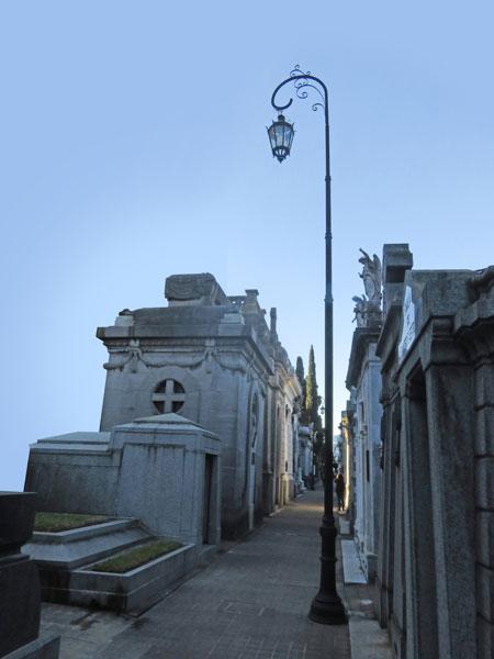 Pole position at the Cementerio de la Recoleta in Buenos Aires, Argentina.